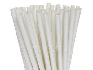 ống hút giấy trắng